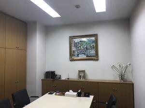 事務所内の相談室風景