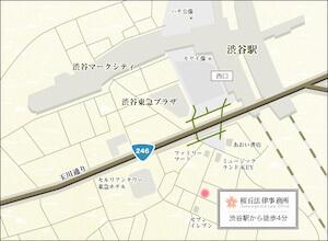 最寄り駅から事務所までの地図