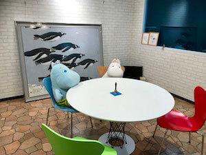 事務所の待合室の写真
